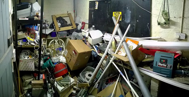 Picture of a cluttered garage